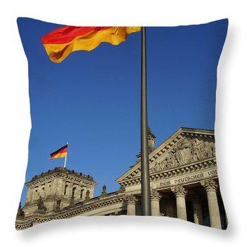 Deutscher Bundestag Throw Pillow by Flavia Westerwelle