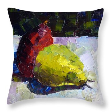 Deux D'anjou Throw Pillow