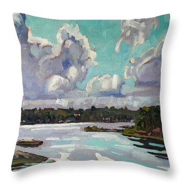 Developing Showers Throw Pillow by Phil Chadwick