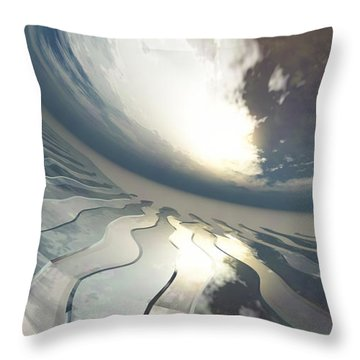 Deviating World Throw Pillow by Richard Rizzo