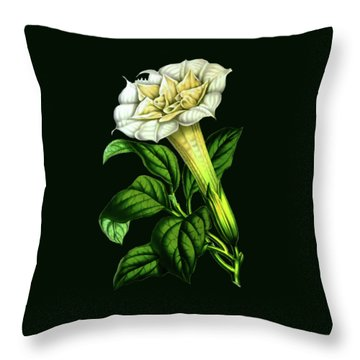 Devil Trumpet Datura Fastuosa Throw Pillow