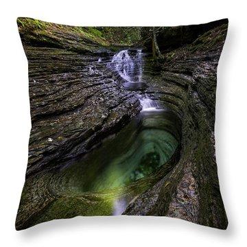 Devils Bathtub Throw Pillow by Anthony Heflin