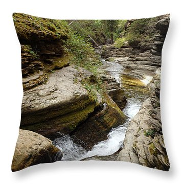 Devil's Bathtub Sd Throw Pillow by James Peterson