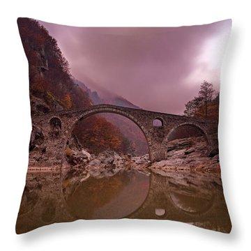 Devil's Bridge Throw Pillow by Evgeni Dinev