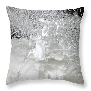 Devils Churn Up Close Throw Pillow