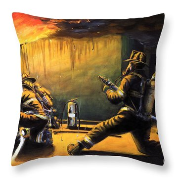 Devil's Doorway II Throw Pillow by Paul Walsh