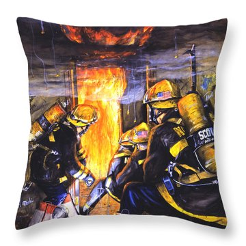 Flames Throw Pillows