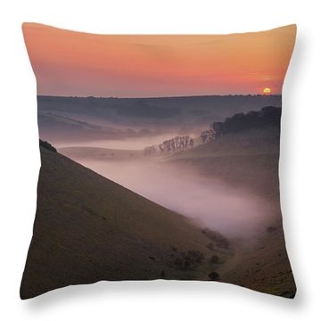 Devils Dyke Throw Pillow
