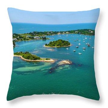 Devils Foot Island Throw Pillow