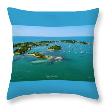 Devils Foot Island Throw Pillow