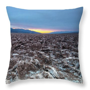 Throw Pillow featuring the photograph Devil's Golf Course  by Catherine Lau