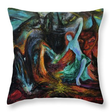 Devils Gorge Throw Pillow by Christophe Ennis