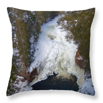 Devil's Kettle Throw Pillow by Sandra Updyke