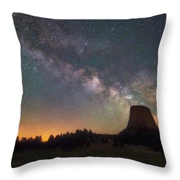 Devils Night Watch Throw Pillow
