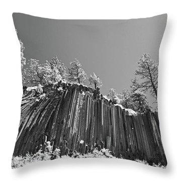 Devil's Postpile - Frozen Columns Of Lava Throw Pillow by Christine Till