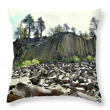 Devils Postpile Wide Throw Pillow