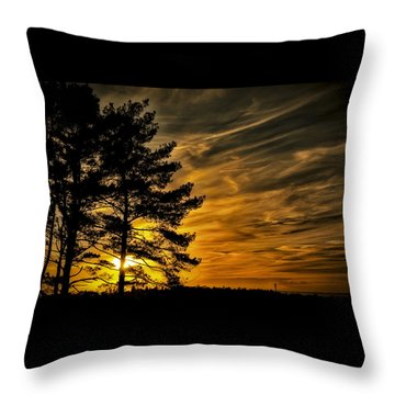 Devils Sunset Throw Pillow