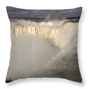 Devil's Throat Throw Pillow