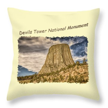 Devils Tower Inspiration 2 Throw Pillow