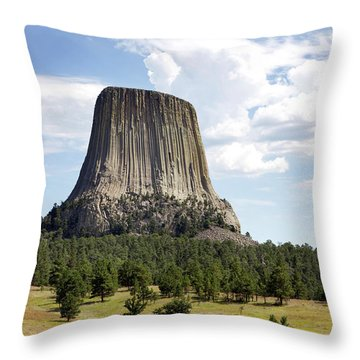 Devils Tower National Monument Throw Pillow
