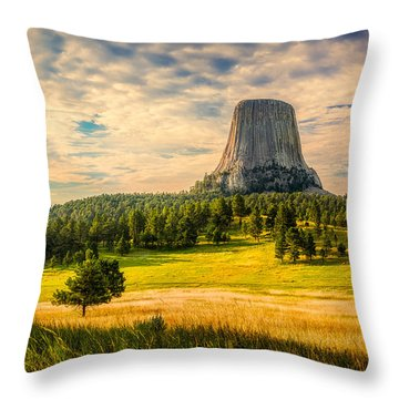 Devil's Tower - The Other Side Throw Pillow