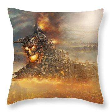 Devils Train 2 Throw Pillow