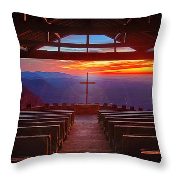 Devine Sunrise Throw Pillow