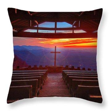 Devine Sunrise Throw Pillow