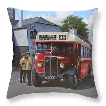 Devon General Aec Regal. Throw Pillow by Mike  Jeffries