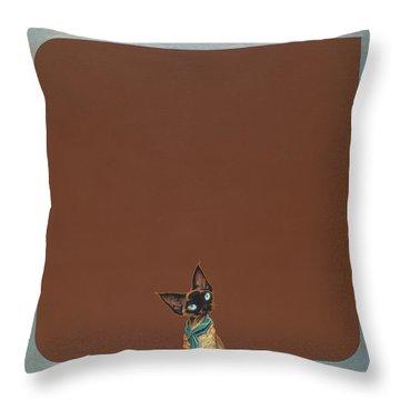 Devon Rex Throw Pillow