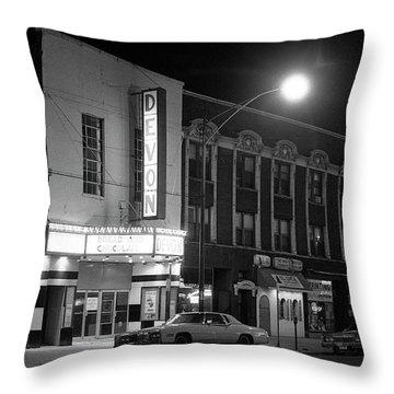 Devon Theatre, 1979 Throw Pillow
