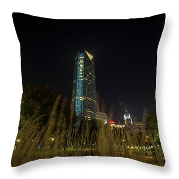 Devon Tower Okc 2 Throw Pillow