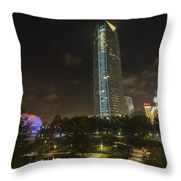 Devon Tower Okc Throw Pillow