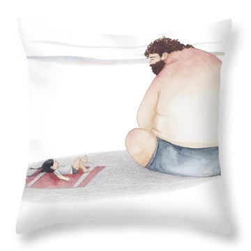 Child Drawing Throw Pillows