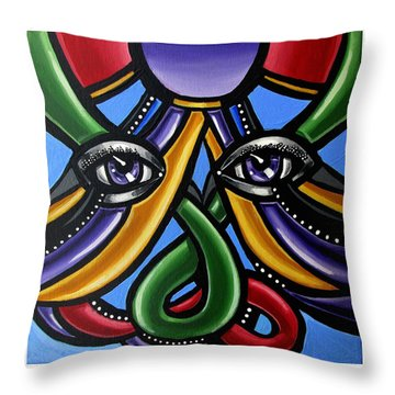 Colorful Eye Art Paintings Abstract Eye Painting Chromatic Artwork Throw Pillow