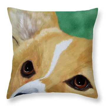 Devotion-corgi Eyes Of Love Throw Pillow