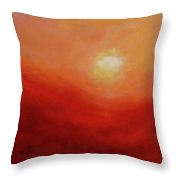 Throw Pillow featuring the painting Devotion by Valerie Anne Kelly