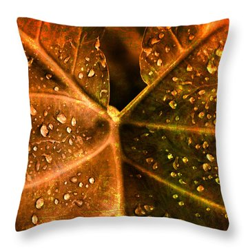 Dew Drops Throw Pillow by Susanne Van Hulst