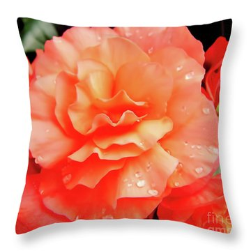 Dew Kissed Throw Pillow