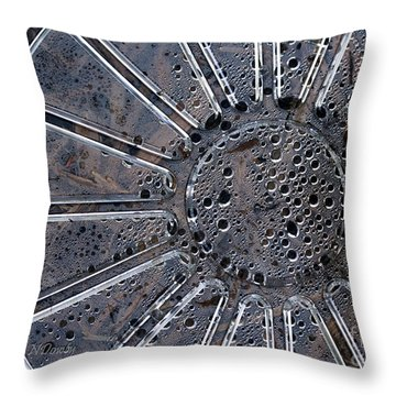 Dew On Dish Throw Pillow