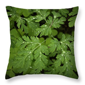 Dewey Leaves Throw Pillow