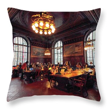 Throw Pillow featuring the photograph Dewitt Wallace Periodical Room by Jessica Jenney
