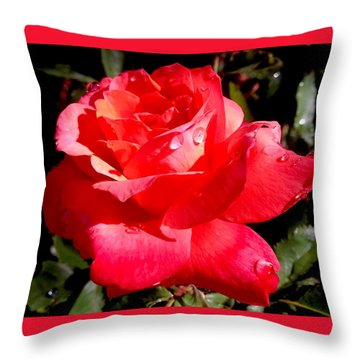 Dewly Noted Throw Pillow
