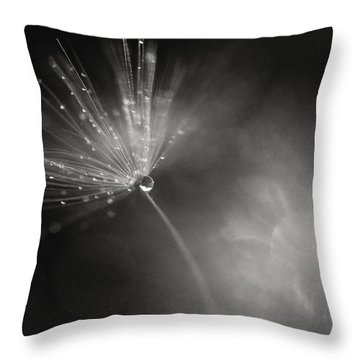 Dewy Dandelion Fireworks Throw Pillow