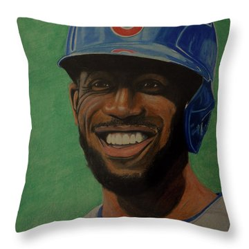 Dexter Fowler Portrait Throw Pillow