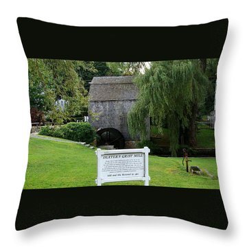 Dexter's Grist Mill Throw Pillow by Rod Jellison