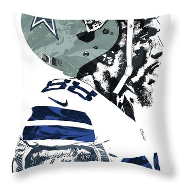 Throw Pillow featuring the mixed media Dez Bryant Dallas Cowboys Pixel Art 4 by Joe Hamilton