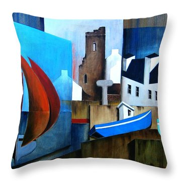 Returning Home And A Stop Over At Tory Island Throw Pillow