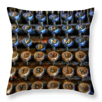 Dfghjk Throw Pillow by Joel Witmeyer