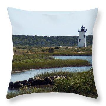 Edgartown Harbor Lighthouse Throw Pillow